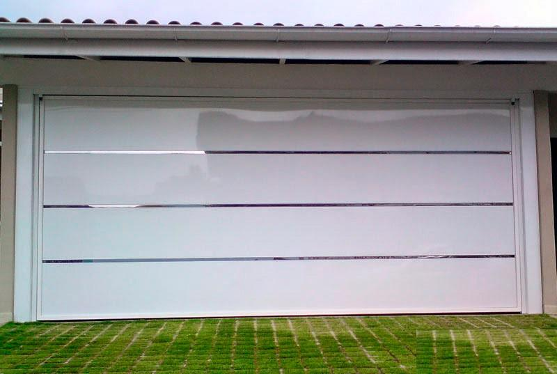 Portão de alumínio automático basculante