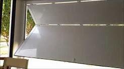 Portão automático basculante articulado