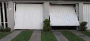 Portão automático garagem basculante